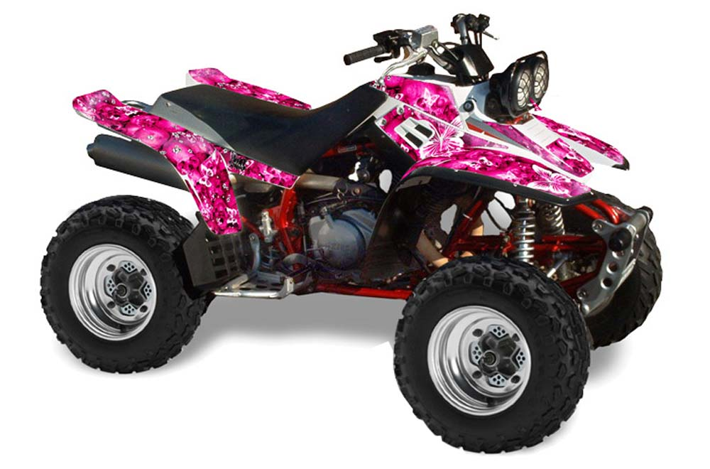 Yamaha Warrior 350 ATV Graphics: Butterflies - Pink Quad Graphic ...