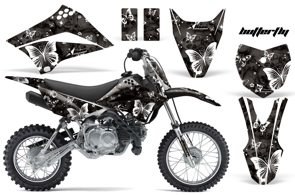 kawasaki klx110 dirt bike graphics  butterfly