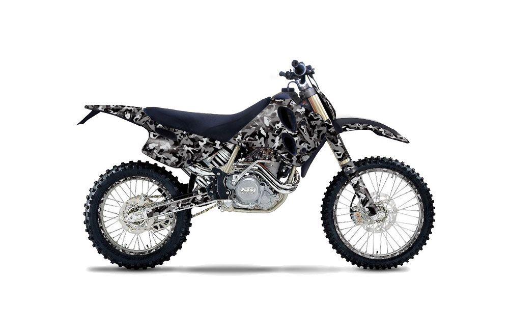 ktm c0 mxc 4 stroke dirt bike graphics  urban camo