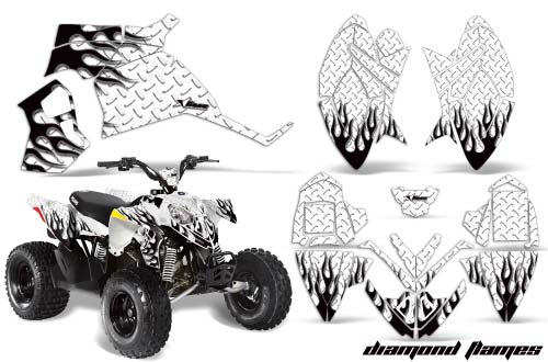 Butterflies Pink /& Purple AMR Racing ATV Graphics kit Sticker Decal Compatible with Polaris Outlaw 90 All Years